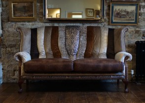 Eclectic glamour sofa decor