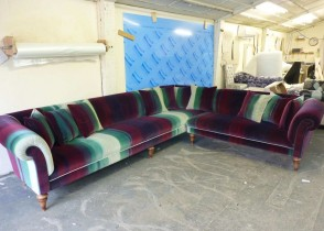 Eclectic multicolor sectional sofa