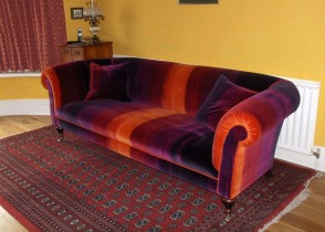 Eclectic multicolor sofa living room