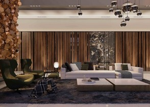 Cool modern luxury living room brsss accents modern sofa