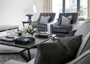 elegant tufted chairs