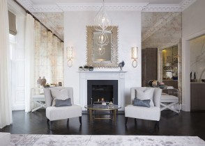 white accent chairs elegant living room