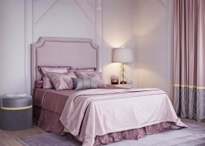 Luxury pink bedroom lilac rose bedroom