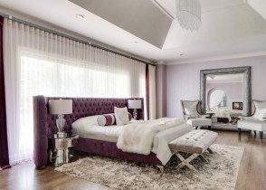 Pink Velvet tufted bed