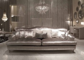 Silver chrome sofa silr