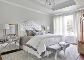 White tufted bed 92