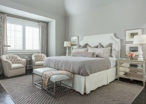White linen bedroom cozy glam bedroom