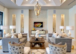 white and gold luxury living room decor brass accents