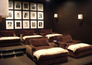 chocolate-brown-media-room-design-velvet-lounges