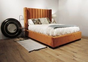 Channel Tufted bed modern