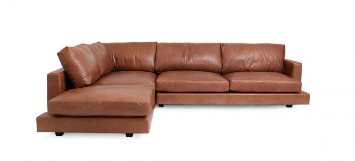 Evan Leather Sectional