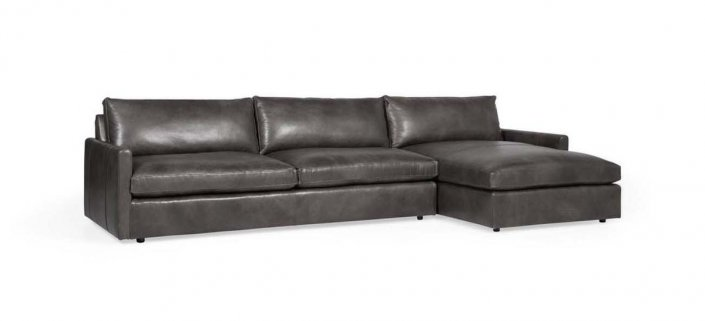 Flavio Leather Sectional